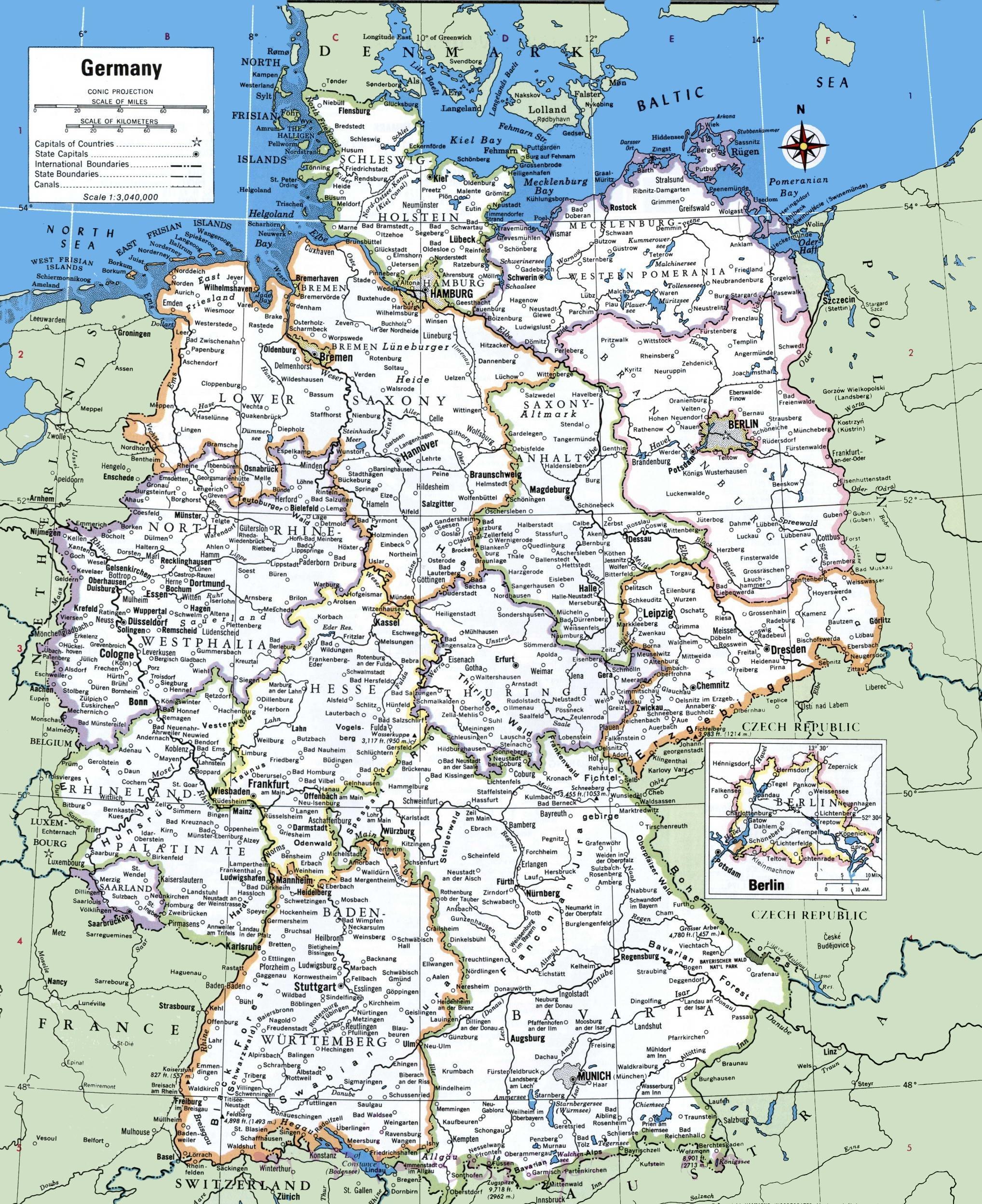 Karta Njemacke Sa Gradovima Karta