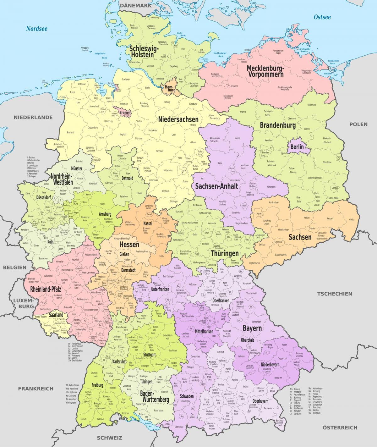 dresden karta Njemačka karta područja kartica području Njemačke (Zapadna Europa  dresden karta